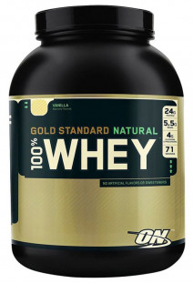 Протеин Optimum Nutrition Natural Whey Gold standard Gluten Free 4,8 lb (2177 г)