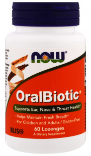 NOW Oralbiotic Lozenges (60 шт)