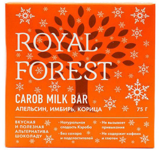 Royal Forest Carob Milk Bar (апельсин, имбирь, корица) 75гр